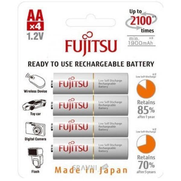 Фото Fujitsu AA 1900mAh NiMh 4шт HR-3UTG
