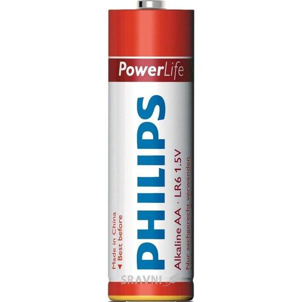 Фото Philips AA bat Alkaline 4шт PowerLife (LR6P4B/97)