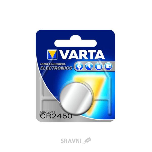 Фото Varta CR-2450 bat(3B) Lithium 1шт (06450101401)