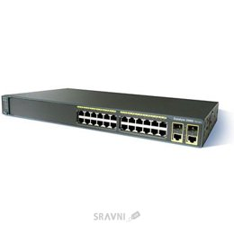 Цены на CISCO WS-C2960-24LT-L Коммутатор Cisco Catalyst 2960-24LT-L, 24-Port, managed Коммутатор Cisco Catalyst 2960 24 10/100 (8 PoE)+ 2 1000BT LAN Base Image, фото