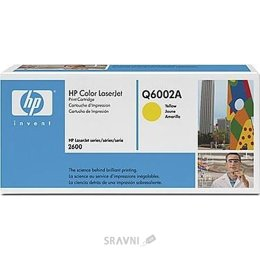 Цены на HP Картридж HP CLJ1600/2600 yellow Q6002A 2 000 стр@5% (A4) для серии Color LaserJet 1600/2600/2605 series, CLJ CM1015/1017, фото