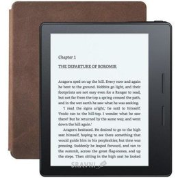 Цены на Электронная книга Amazon Kindle Oasis with Leather Charging Cover Brown, фото