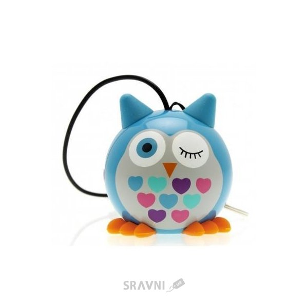 Фото KitSound 1.0 Mini Buddy Speaker Owl Blue (KSNMBOWLBL)