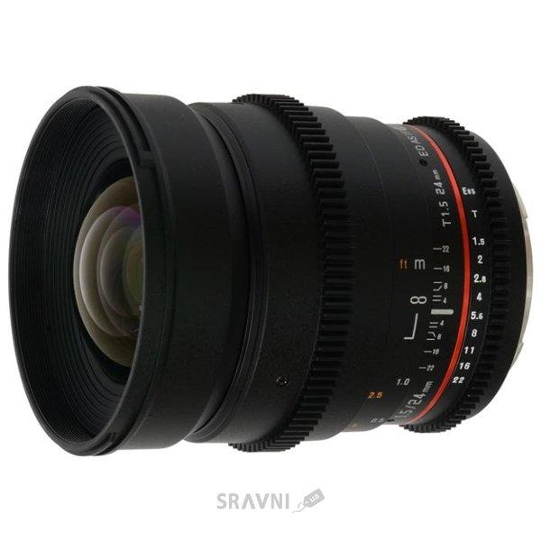 Фото Samyang 24mm T1.5 ED AS UMC VDSLR Canon EF