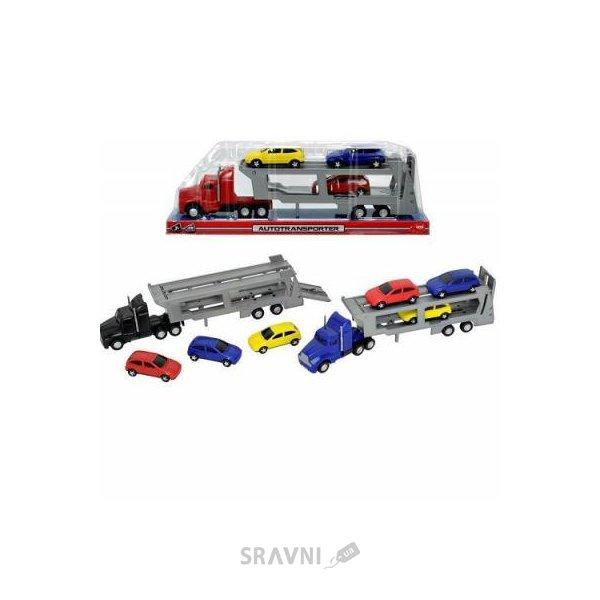 Фото Dickie Toys Автотранспортер с тремя машинками, 32 см (3746000)