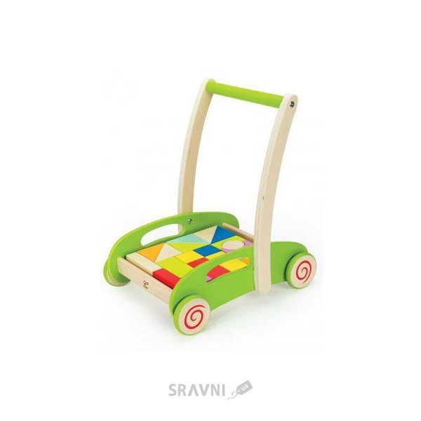 Фото Hape Block and Roll Е0371 Каталка-лабиринт 3 в 1