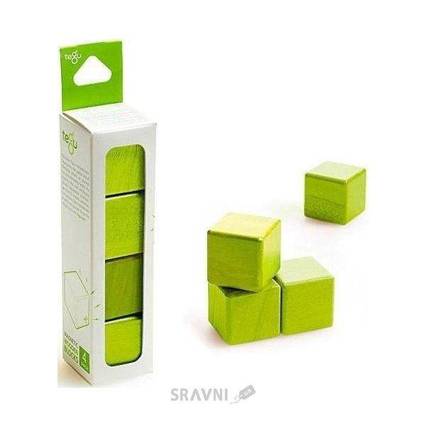 Фото Tegu Набор из 4 кубиков (зеленый) G-12-008
