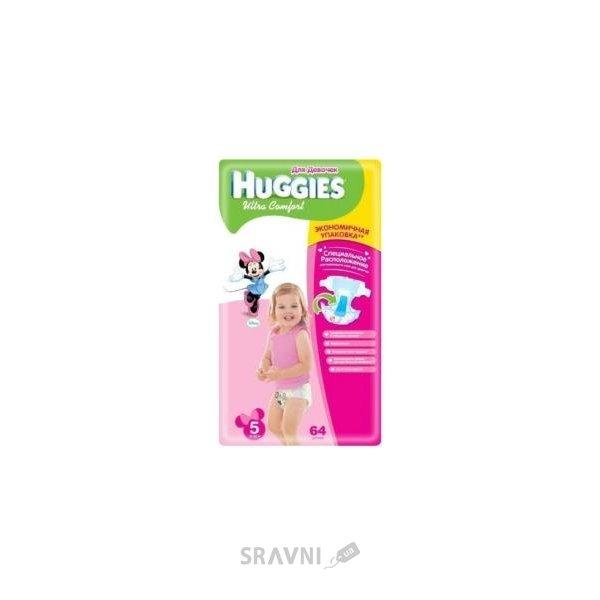 Фото Huggies Ultra Comfort для девочек 5 (64 шт.)