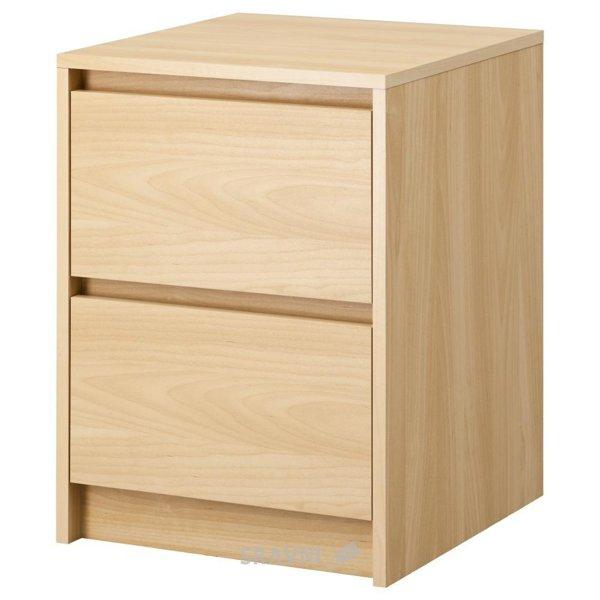 Фото IKEA SKREIA Комод с 2 ящиками (602.876.07)