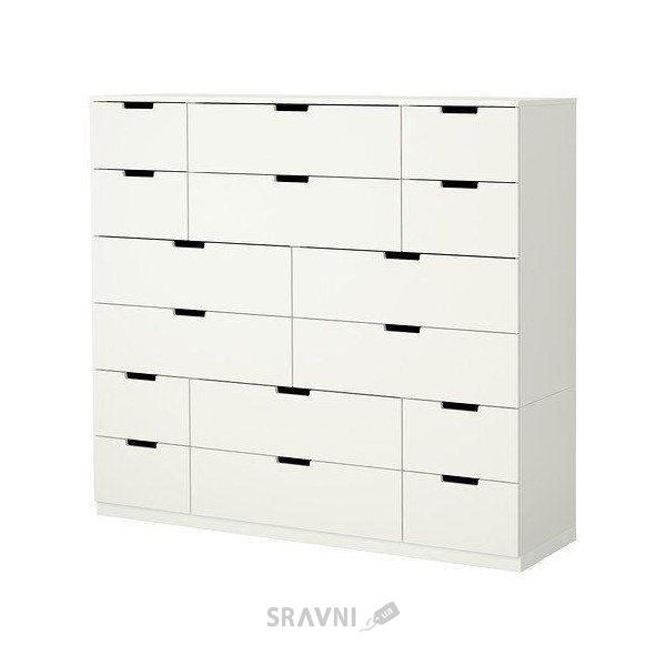 Фото IKEA NORDLI Комод с 16 ящиками, белый (290.213.42)