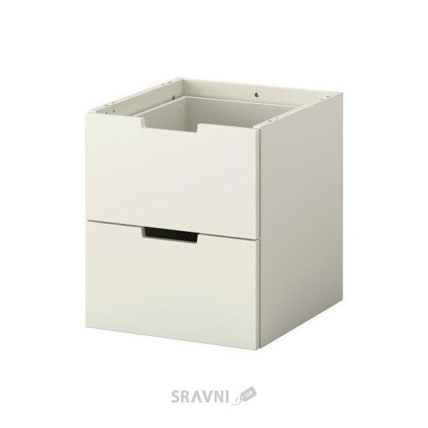 Фото IKEA NORDLI Комод модульный, 2 ящика, белый (102.727.07)