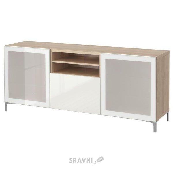 Фото IKEA BESTA Скамья ТВ с выдвижными ящиками (990.843.88)