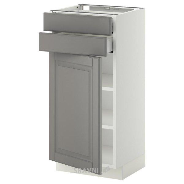 Фото IKEA METOD/MAXIMERA Напольный шкаф 2 ящика+1 дверь (790.260.40)