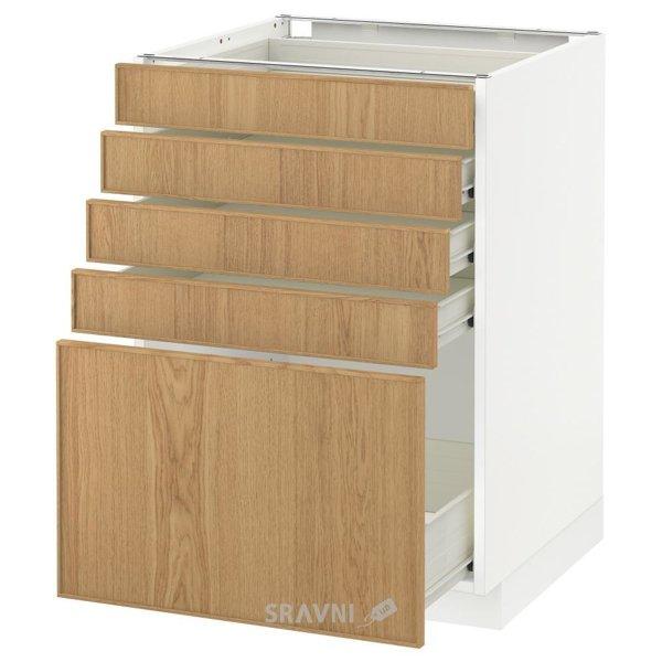 Фото IKEA METOD/FORVARA Напольный шкаф с 5 ящиками, белый 60x60 (490.534.45)