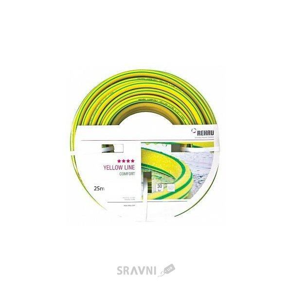 "Фото REHAU Шланг Comfort Yellow Line 5/8""/16мм х 25м (214288)"