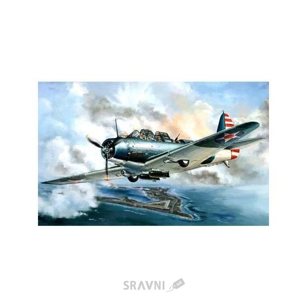 "Фото Great Wall Бомбардировщик Douglas Douglas TBD-1 ""Devastator"" - VT-6 at Wake Island 1942 (GWH-L4809)"