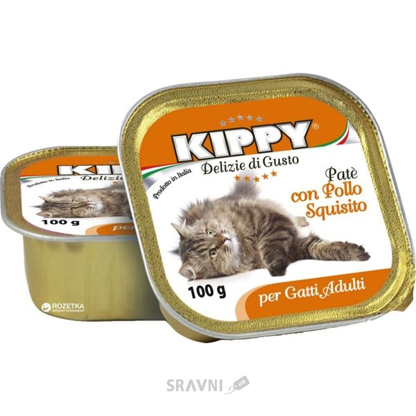 Фото KIPPY Консервы для котов c курицей, паштет 0,1 кг