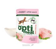 Фото OptiMeal С кроликом в белом соусе 85 гр