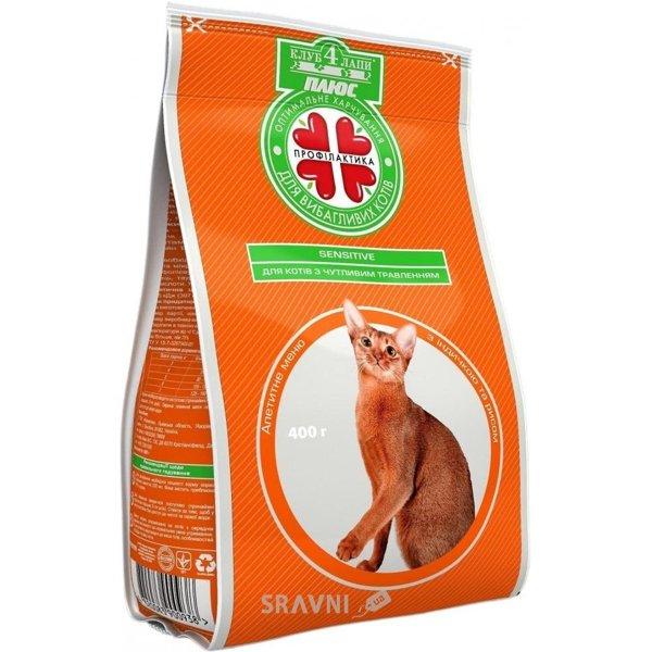 Фото Клуб 4 лапы Сухой корм для кошек с чувствительным пищеварением 3 кг