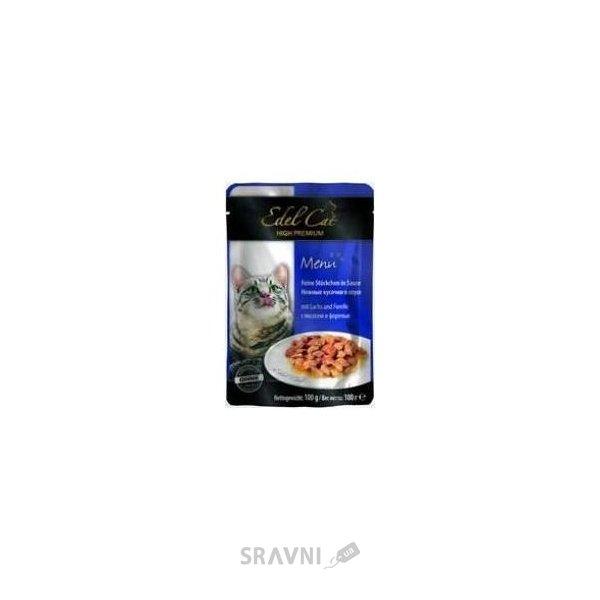 Фото Edel Cat Нежные кусочки в соусе с лососем и форелью 100 г