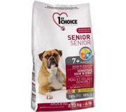 Фото 1st CHOICE Seniors All Breeds - Sensitive skin & coat 2,72 кг