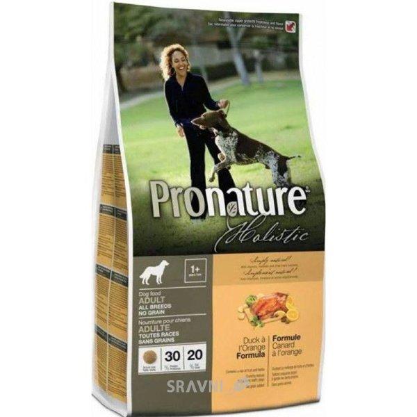 Фото Pronature Holistic для взрослых собак утка с апельсином 0,34 кг
