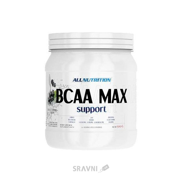 Фото All Nutrition BCAA Max Support 500g (50 servings)