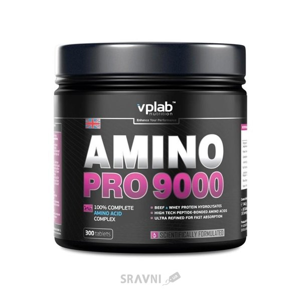 Фото VPLab Amino Pro 9000 300 tabs (50 servings)