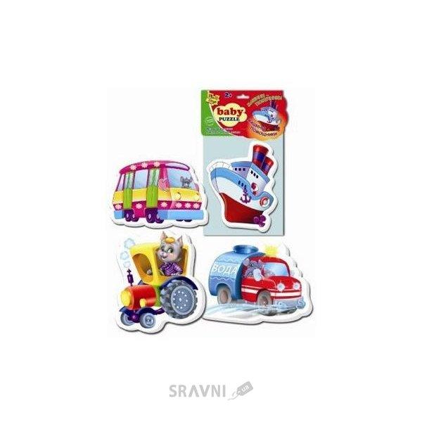 Фото Vladi Toys Беби пазлы Машины-помощники (VT1106-08)