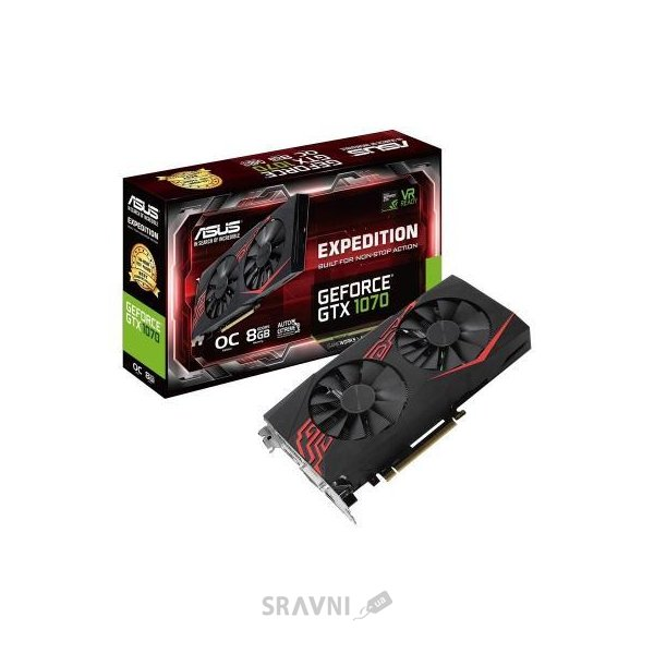 Фото ASUS GeForce GTX1070 Expedition OC 8GB (EX-GTX1070-O8G)