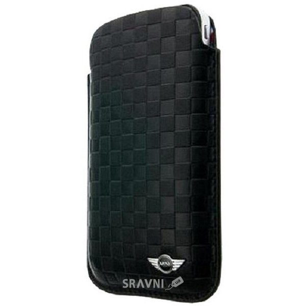 Фото CG Mobile Mini Leather Sleeve Case Chequered Black for iPhone 4/4S (MNPUIPSQBL)