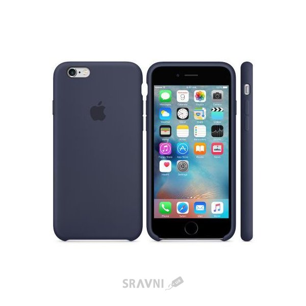 Фото Apple iPhone 6s Silicone Case - Midnight Blue (MKY22)