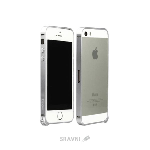 Фото iBacks Aluminum Bumper Essence Series iPhone 5/5S/SE Silver (IP50207)