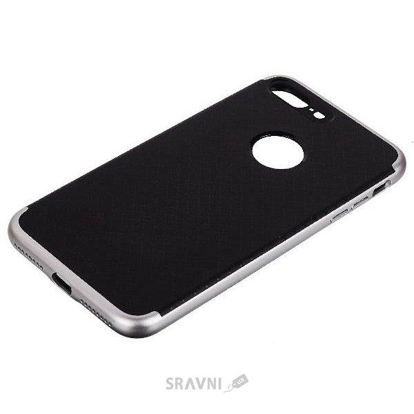 Фото IPAKY PC+TPU для iPhone 7 Black/Silver