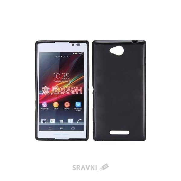 Фото Celebrity TPU cover case for Sony Xperia C S39h Black