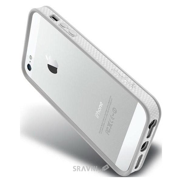 Фото NavJack Trim bumper for iPhone 5/5S pearl white (J019-14)