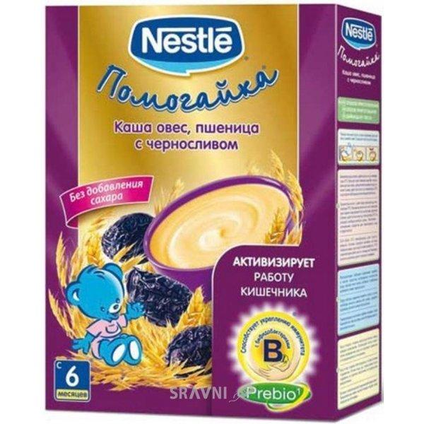 Фото Nestle Каша безмолочная Помогайка Овес-пшеница с черносливом, 200 г