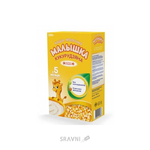 Фото Малыш Каша молочная Малышка кукурузная, 250 г