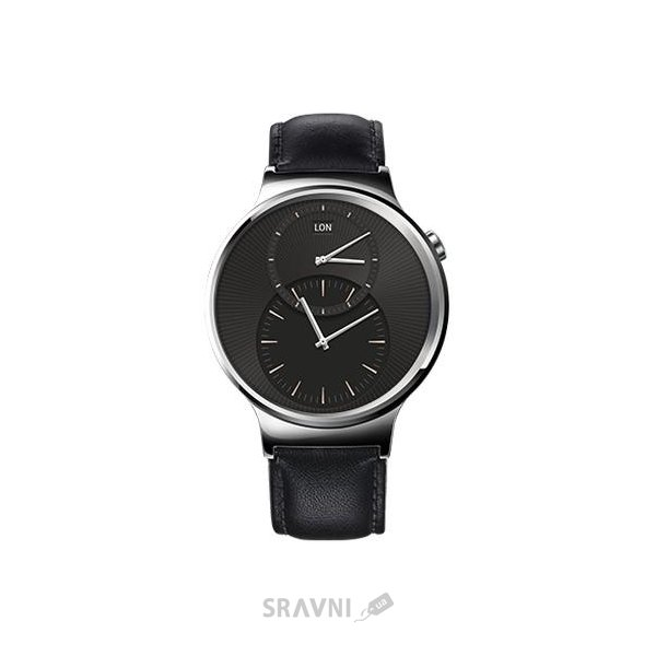 Фото Huawei Watch (Stainless Steel with Black Leather Strap)
