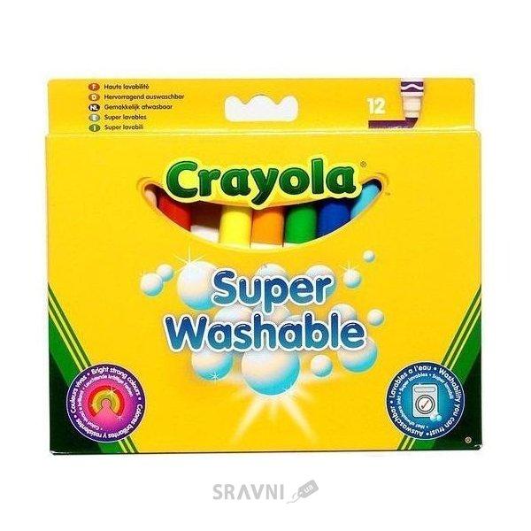 Фото Crayola 12 смываемых широких фломастеров (8329)