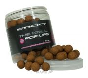 Фото Sticky Baits Бойлы The Krill Pop-Ups 12mm 100g