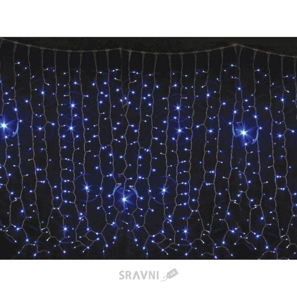 Фото Delux Curtain 456 LED 2х1.5m синий/белый IP44 (10008249)