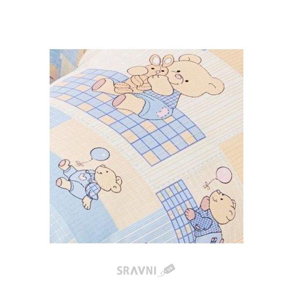 Фото Василинка Наволочка на подушку для кормления Небесные мишки, 80х90 см