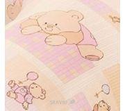 Фото Василинка Наволочка на подушку для кормления Розовые мишки, 75х75 см