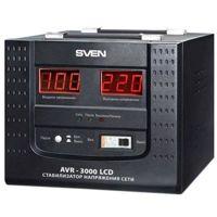 Цены на Sven Стабилизатор напряжения Sven AVR-3000 LCD Тип: релейный Максимальная мощность - 3000 ВА Выходное напряжение - 220 ± 8% В Входное напряжение - 100-280 В 30321197, фото