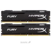 Фото Kingston 8GB (2x4GB) DDR4 2400MHz HyperX FURY (HX424C15FBK2/8)