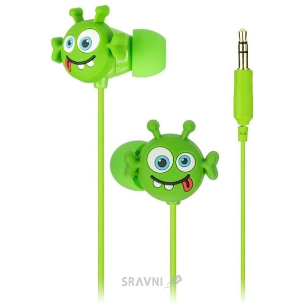 Наушник KitSound Doodles In-Ear Alien (DDALIBUD)