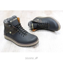 3d3d725f7b1e Columbia Мужские ботинки Columbia зимние черные с коричневым 32644 ...